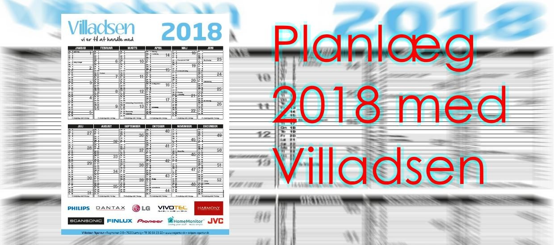 Villadsen Agentur 2018 kalenderen