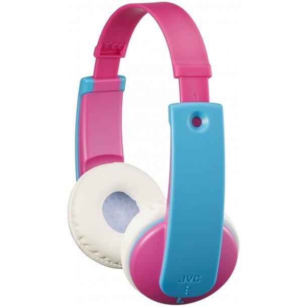 JVC HA-KD9BT-P-E bluetooth hovedtelefon til børn - Pink/lyseblå