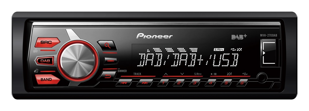 pioneer mvh 270dab autoradio m dab autoradio. Black Bedroom Furniture Sets. Home Design Ideas