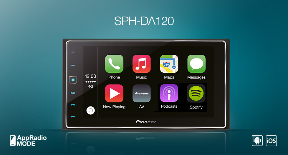 pioneer sph da120 autoradio m apple carplay autoradio. Black Bedroom Furniture Sets. Home Design Ideas