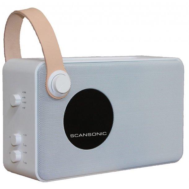 Scansonic PA4600 DAB+ radio m. bluetooth - hvid