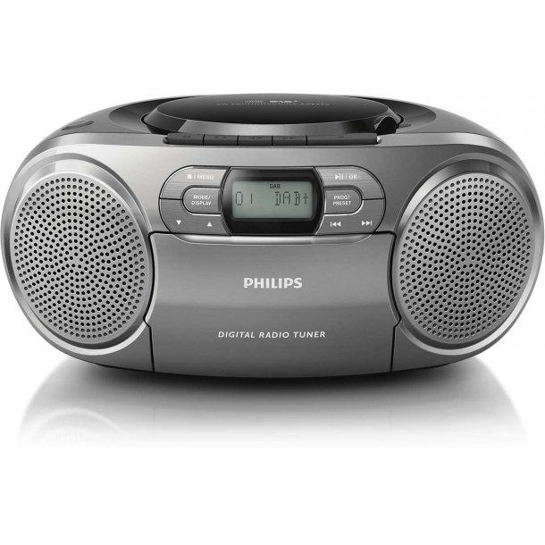 Philips AZB600/12 DAB+ ghettoblaster med kasettebåndoptager