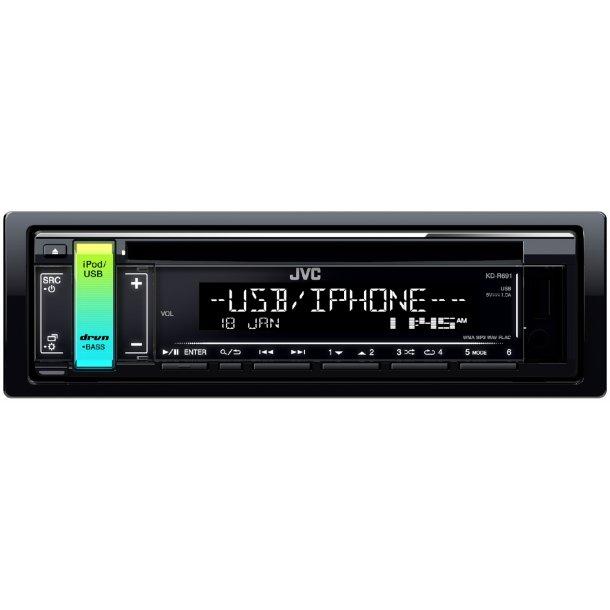 JVC KD-R691 autoradio med variabel lys