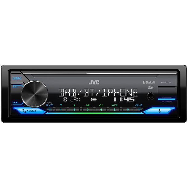 JVC KD-X472DBT digital media receiver med DAB+