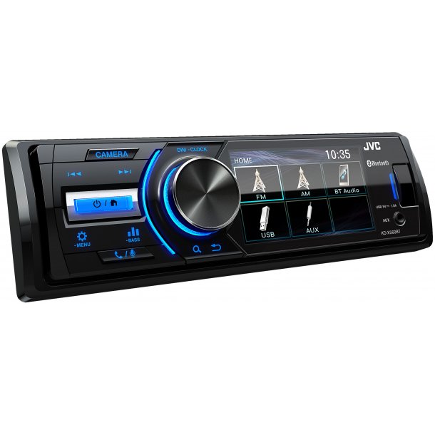 JVC KD-X560BT digital media receiver med 3'' skærm