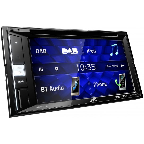 JVC KW-V255DBT AV-receiver med DVD og DAB+