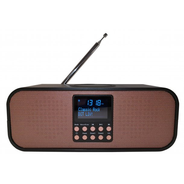 Scansonic PA8001 DAB+ radio med trådløs oplader