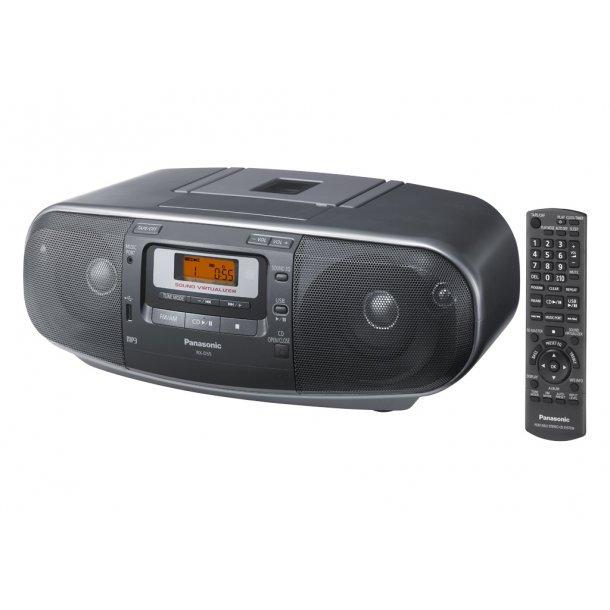 Panasonic RX-D55AEG-K ghettoblaster med kassettebånd/CD