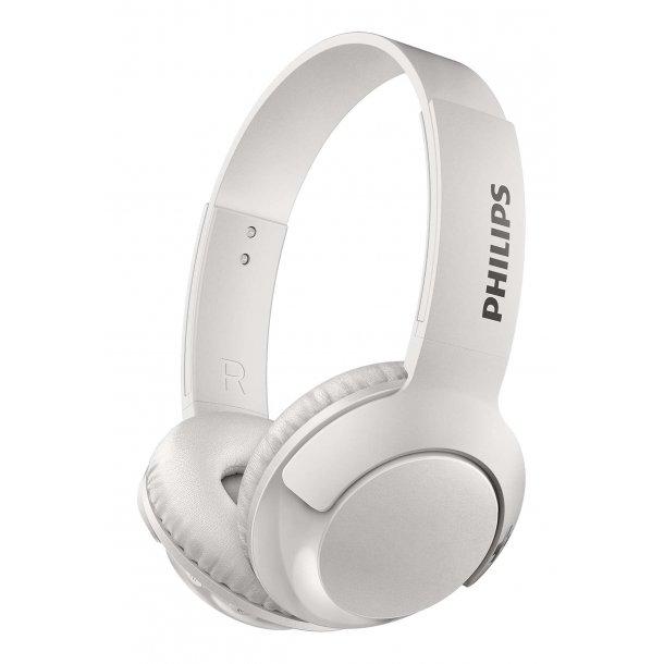 Philips SHB3075WT on-ear bluetooth hovedtelefon - HVID