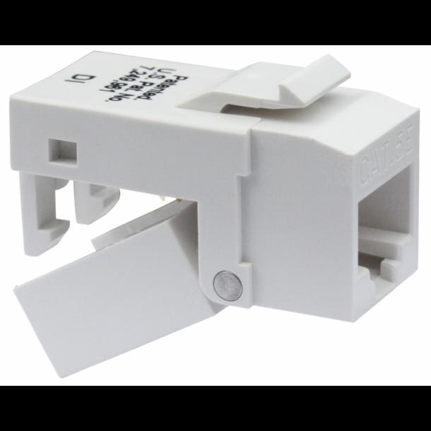 Platinum Tools EZ-SnapJack RJ45, keystone, CAT6, hvid